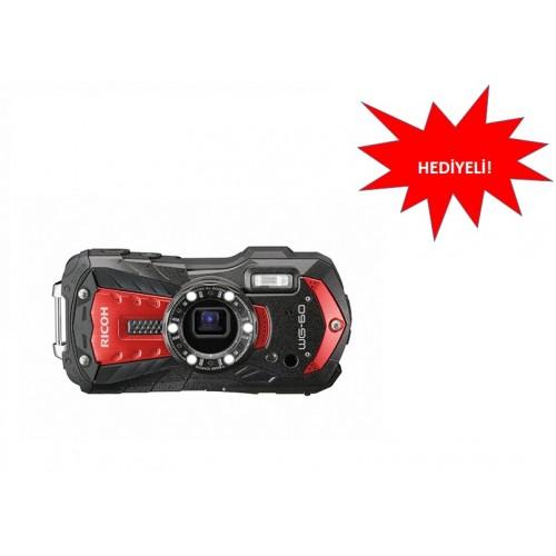 RICOH WG-60 Dijital Kompakt Fotoğraf Makinesi -Kırmızı - HEDİYELİ!