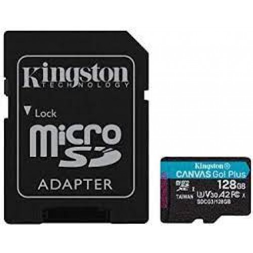 KINGSTON Canvas Go! Plus microSD Hafıza Kartı - 128 GB  (SD Adaptörü İle)